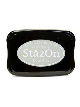 Tsukineko StazOn Solvent Ink dove gray, 3.75 in. x 2.625 in, full-size pad [pack of 2]