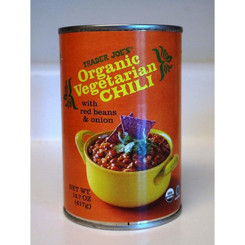 Trader Joe's Organic Vegetarian Chili With Red Beans & Onion 14.7 OZ
