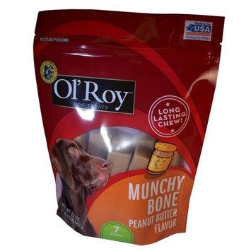 Ol' Roy Munchy Bone Peanut Butter Flavor Chews Dog Treats, 7 Ct