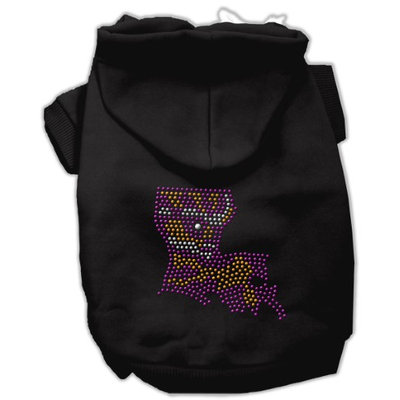 Mirage Pet Products 5444 SMBK Louisiana Rhinestone Hoodie Black S 10