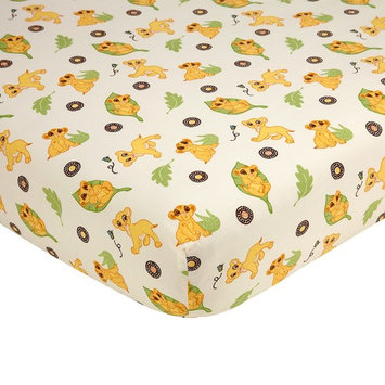 Disney Lion King Simba's Wild Adventure 100% Cotton Fitted Crib Sheet