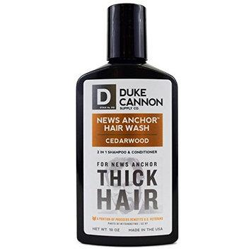 Duke Cannon News Anchor Thick 2-in-1 Hair Wash (Cedar),10 Ounces