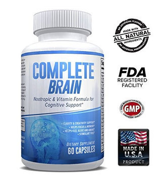 Explicit Supplements Brain Supplement Nootropic - CompleteBrain - Improves Memory, Mood, Focus, Clarity Creativity