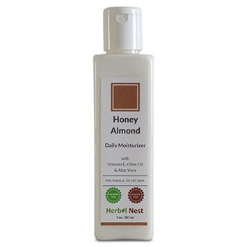 Honey Almond Daily Day and Night Face Herbal Moisturizer. An ultra rich face & skin moisturizer for normal & dry skin - 7 Oz