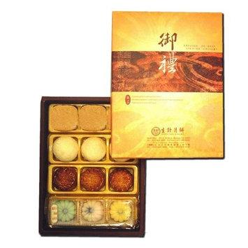 Sheng Kee 12pc Combo Gift Box(P)- 3sm-Moon Cake(Date/Lotus/Red Bean)/Pineapple Pastry/Green Bean Pastry/Fruit Cake(Strawberry, Mango, Honeydew)