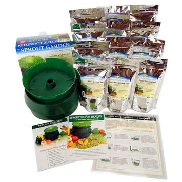 Handy Pantry Sprout Garden Sprouting Seeds and Deluxe Sprouting Kit