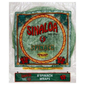 Sinaloa Hawaii Wraps Spinach Tortillas 12.75 oz