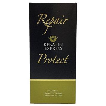 Keratin Express Repair & Protect Hair Treatment Heat Protector Repair hair for All Hair Types, 2 fl oz.