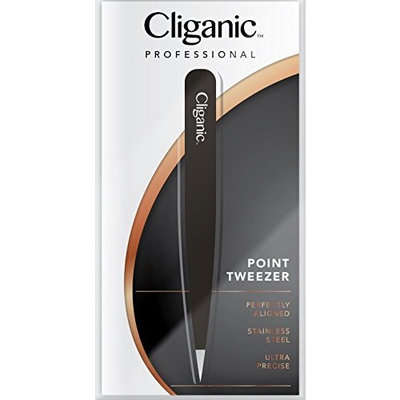 4-Piece Professional Tweezers Set with Case | Stainless Steel | Best Precision for Eyebrow, Splinter & Ingrown Hair Removal | Includes: Slant, Straight, Point & Point/Slant