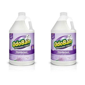 OdoBan Multipurpose Cleaner Concentrate, 2 Gal, Lavender Scent - Odor Eliminator, Disinfectant, Flood Fire Water Damage Restoration