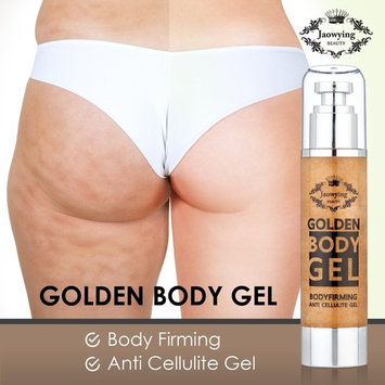 Golden Anti Cellulite Gel - Effective All Natural Cellulite Remover, Concentrated Firming Body Gel, Softens, Smooths, Tightens Loose Skin & Gets Rid of Cellulite - Net 3.38oz (100ml)