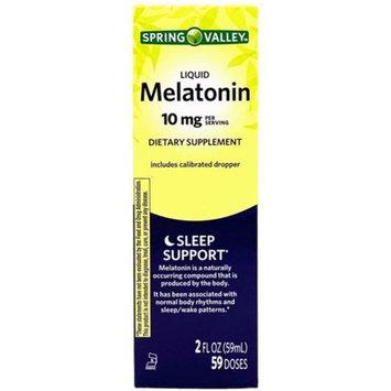 Spring Valley Liquid Melatonin, Berry Flavored, 10 mg, 2 FL OZ, 59 Servings