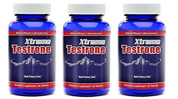 Maritzmayer Laboratories Xtreme Testrone Male Enhancement Testosterone Booster Potency Horny Goat Weed (3 Bottles) .