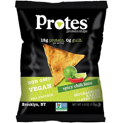 PROTES Vegan Baked Protein Chips | 6 Bags (4 oz.) | 15G of Protein, 120 Calories & Made with Pea Protein | Non GMO & Gluten Free | (Tangy Southern BBQ)