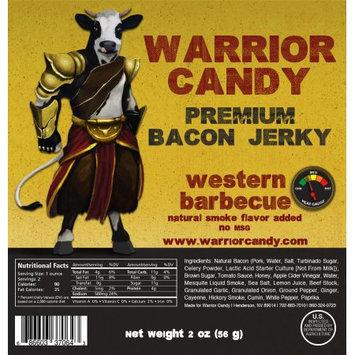 Warrior Candy Premium Bacon Jerky Western BBQ
