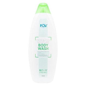 P.O.V. Fresh & Cool Moisture Body Wash, 24 Fl Oz (Pack of 4)