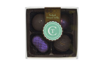 Chocolate Therapy 4-Piece Assorted Dark Chocolate Truffles Gift Box, 3.2 Oz