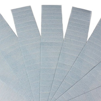 100 Pieces 4cm x 0.9cm Adhesive Double Side Tape for Tape In Skin Weft Seamless Hair Extension