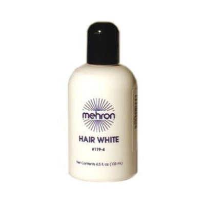 Mehron HAIR WHITE 4.5 Oz. Professional Washable Theatrical Hair Color
