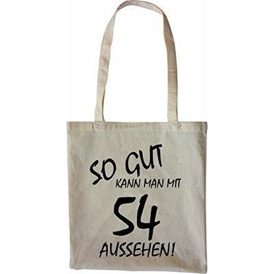 Mister Merchandise Tote Bag So gut kann man mit 54 aussehen! Jahren Jahre Shopper Shopping, Color Schwarz [Black]