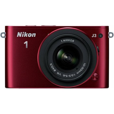 Nikon 1 J3 14.2MP Digital Camera with 10-30mm Lens - Red