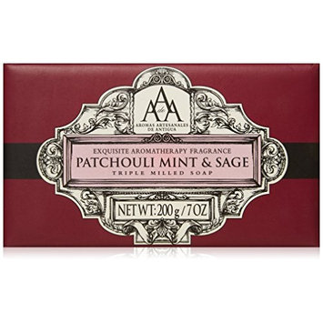 AAA Aromatherapy Patchouli Mint & Sage Triple Milled Soap 200g / 7oz