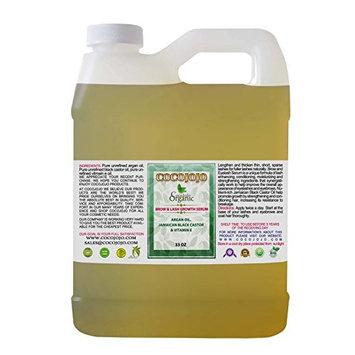 33 oz Pure Argan oil, Black Castor oil, Vitamin E For Eyebrow and Eyelash Serum Just Pure