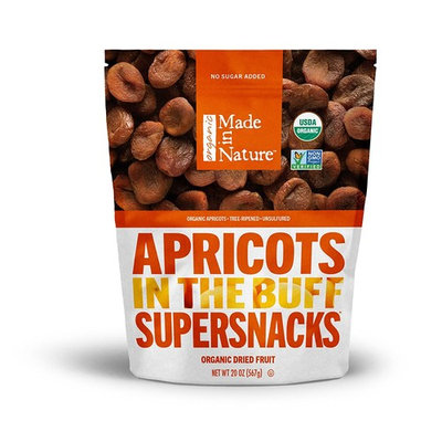 Made In Nature Organic Dried Apricots, 20 oz - Non-GMO Vegan Dried Fruit Snack [Apricot]