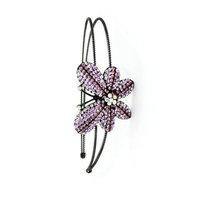 Kate Marie Stylish Headband Purple Butterfly Ornament Embellished with Swarovski Rhinestone