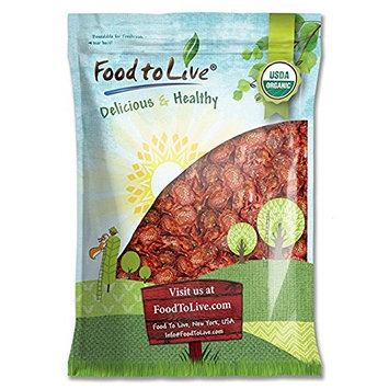 Organic Sun-Dried Tomatoes (Salted, Non-GMO, Kosher, Unsulfured, Bulk, Food to Live) (15 Pounds)