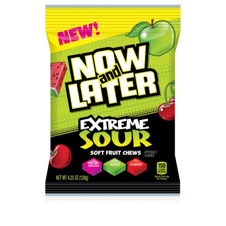 Ferrara Candy Company Now; Later Extreme Sour Taffy Candy, Assorted, 4.25 Ounce Bag