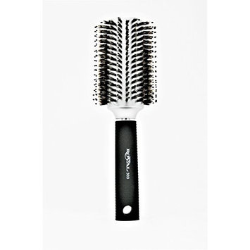 ROYAL 303 Round Barrel 100% Boar Bristle Hair Brush with Reinforced Nylon Spokes For Thick, Curly or Thin Hair