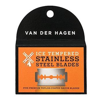 Van Der Hagen Stainless Steel Double Edge Razor Blades 5 Blades + FREE LA Cross 71817 Tweezer