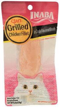 Inaba Ciao Grain-Free Grilled Chicken Fillet in Crab Broth Wet Cat Treat, 0.9 Oz