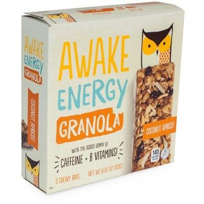 Awake Energy Coconut Apricot Granola Bar, 5 count, 6 oz