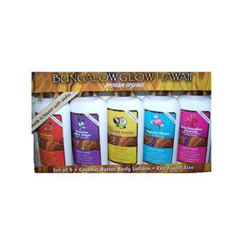 Hawaii Bungalow Organic Coconut Lotion 2 Packs Ten 2 Oz. Bottles