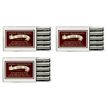 Colonel Ichabod Conk Trac II Razor Blades 10 ct. (Pack of 3) + FREE Luxury Luffa Loofah Bath Sponge On A Rope, Color May Vary