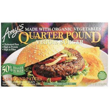 Amy's Burgers, Quarter Pound Veggie, 16 Ounce (Frozen)