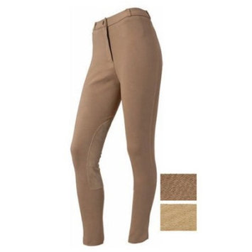 EquiRoyal Ladies Suede Knee Breeches - 32 Long [length: length-long]