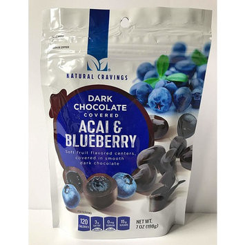 Chocolate Covered Blueberries and Acai - 7oz Package of Delicious Dark Chocolate Covered Blueberry and Acai