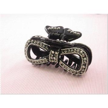 Black Rhinestone Fashion Plastic Hair Claw Accessories Style A