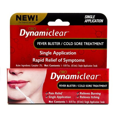 Cold Sore Fever Blister Single Use Treatment by Dynamiclear for Rapid Relief of Herpes Outbreak Cold Sores and Fever Bliters