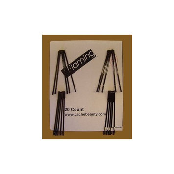 Morris Flamingo Roller Pins Jumbo Brown 20 Per Card