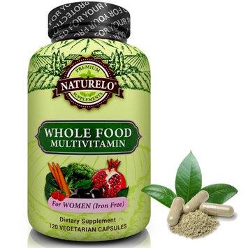 Naturelo Whole Food Multivitamin for Women - IRON FREE - Vegan/Vegetarian - 120 Capsules