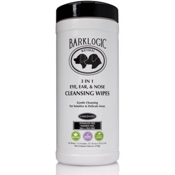 BarkLogic 3 In 1 Eye, Ear, & Nose Cleansing Wipes, 45 Ct