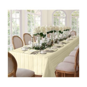 Denley Stripe Ivory Table Linen Collection
