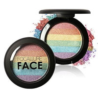 Usstore 1PCS Eyeshadow Focallure Rainbow Highlight Face Shimmer Color