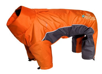 Helios Blizzard Full-Bodied Adjustable and 3M Reflective Dog Jacket, Orange, X-Large