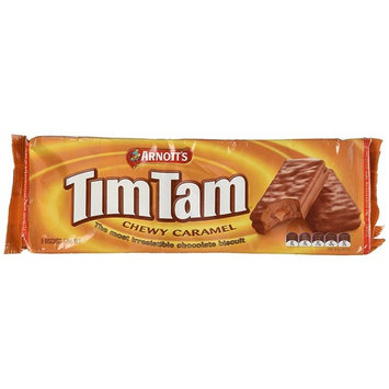 Arnott's Tim Tam | Full Size | Made in Australia | Choose Your Flavor (2 Pack) (Chewy Caramel)