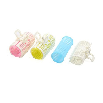 uxcell 3 Pcs 30mm Dia Plastic DIY Home Salon Hair Curlers Clips Rollers Hairdressing Tools Set